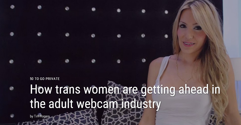 article on Transsexuals and internet modeling