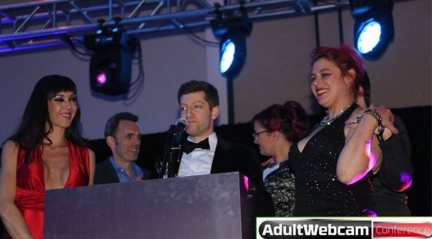 Cam4 team and performers at Adult Webcam Awards show