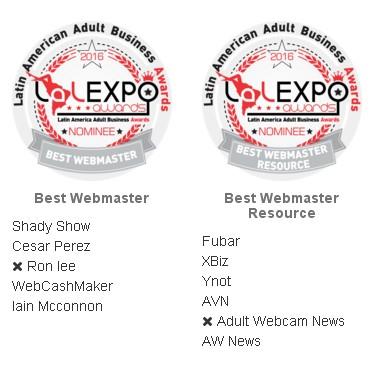 AdultWebcamNews.com Awards Nominations