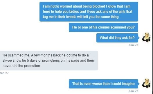 teamcamgirls twitter abuse
