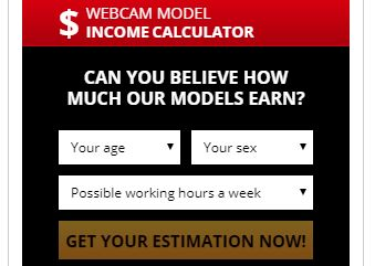 LiveJasmin model income calculator