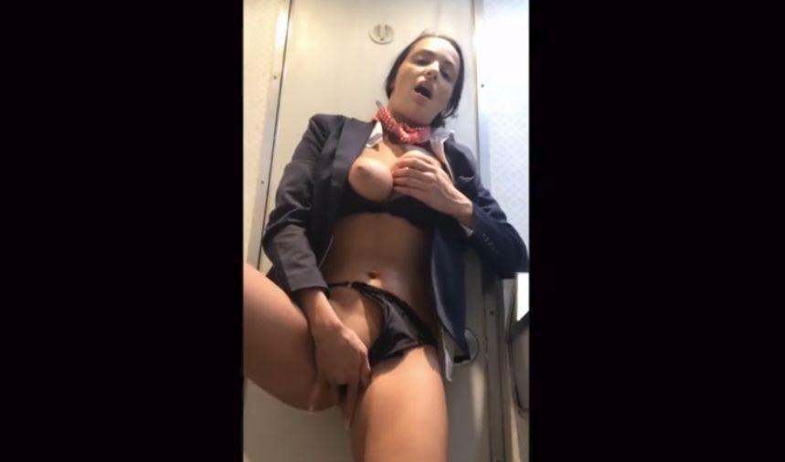 cam girl masturbating on airplane