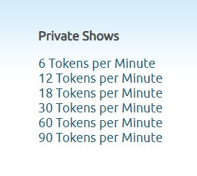 chaturbate private shows cost