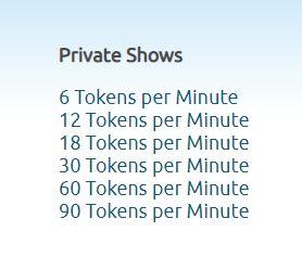 chaturbate private shows cost